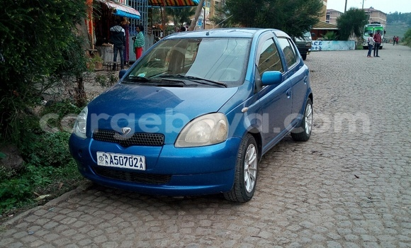 Buy Used Toyota Vitz Blue Car in Addis Ababa in Ethiopia