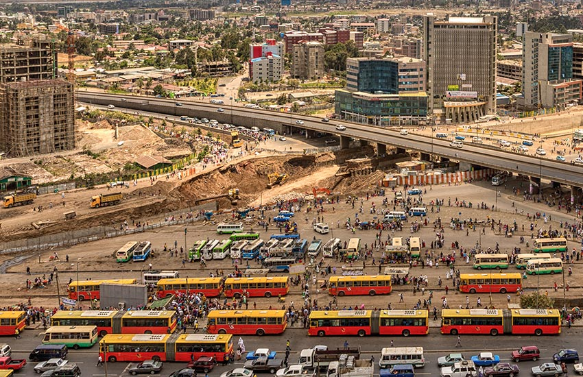 Addisababa double decker bus mekina